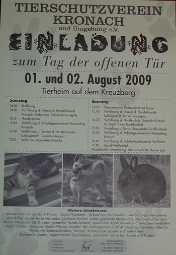 Tag der Offenen Tuer 2009 - Plakat