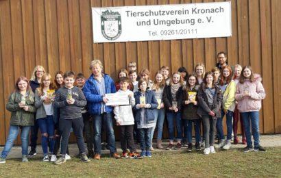 Maximilian-von-Welsch-Realschule sammelt 1000 Euro fürs Tierheim
