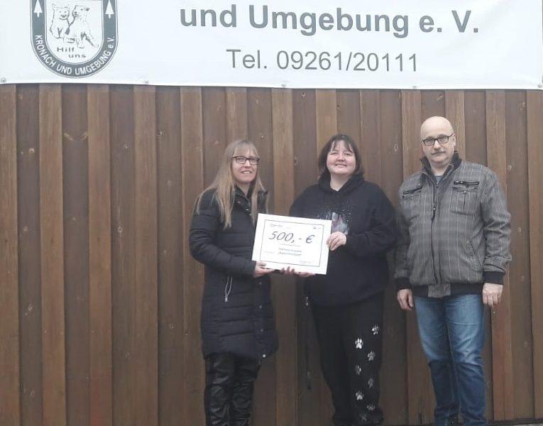 """""""Finn was"""" Kleintettau spendet 500 Euro für Kastrationsaktionen des Tierschutzvereins"""