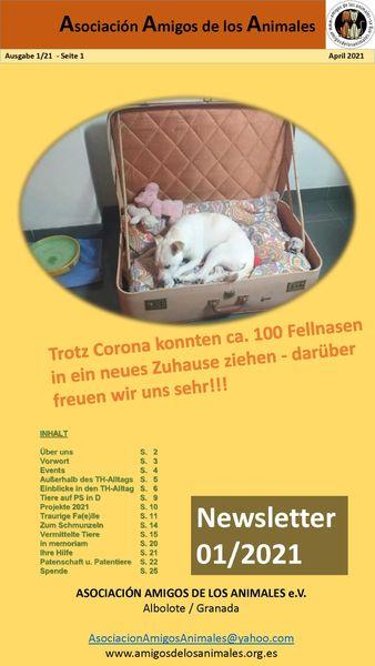 Newsletter März 2021 unseres spanischen Partner-Tierheims Albolote/Granada